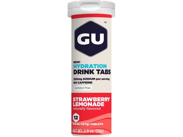 GU Energy Hydration Drink Tabs 12 Pieces, Strawberry Lemonade